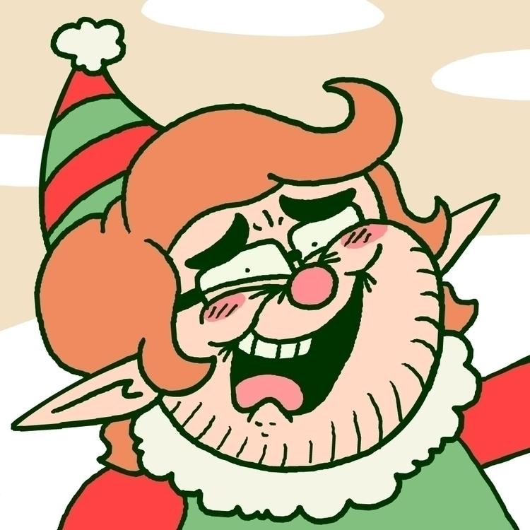elf version Christmas season - SelfPortrait - carldoonan   ello