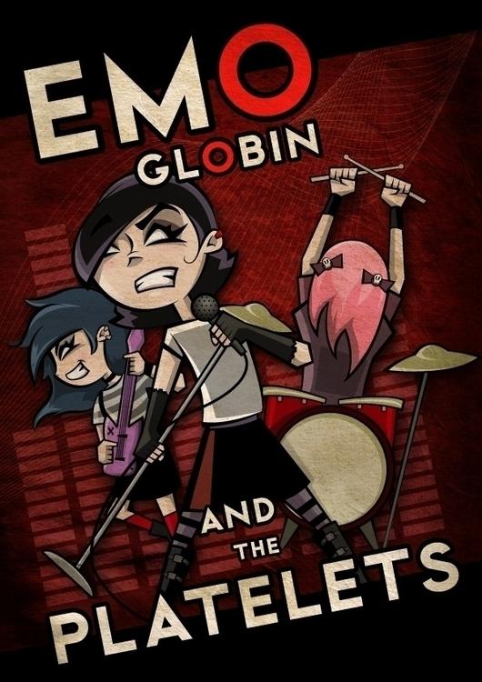Emo Globin - illustration, characterdesign - marciobatista | ello