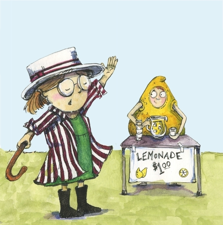 Lemonade stand katiewools.com - illustration - katie_wools | ello