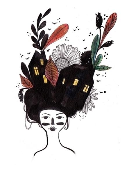 world head - illustration, painting - valeriazaccheddu | ello