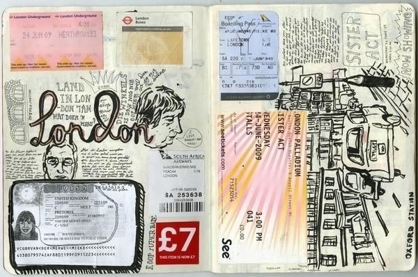 london - uk, sketch, sketchbook - miekevdmerwe   ello