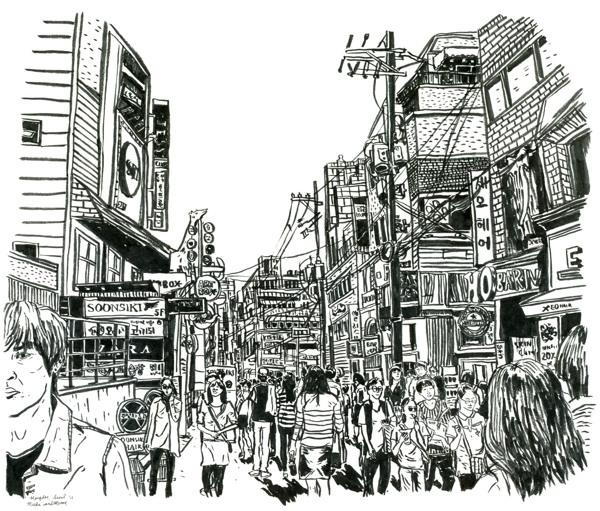 seoul streets - korea, blackandwhite - miekevdmerwe | ello