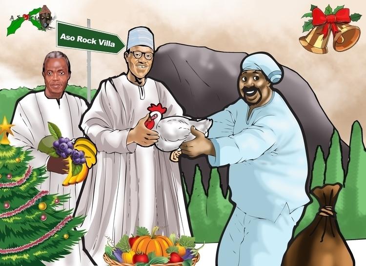 Osinbanjo,Buhari receiving kyok - sunnyefemena | ello