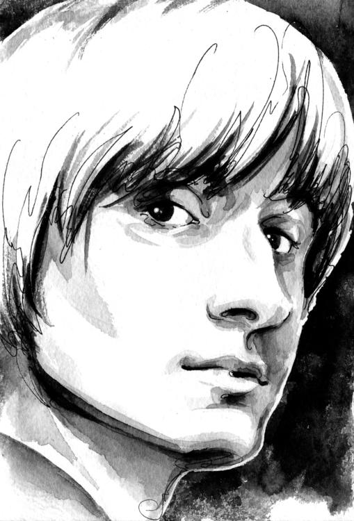 portrait, ink, penink, drawing - annagosteva   ello