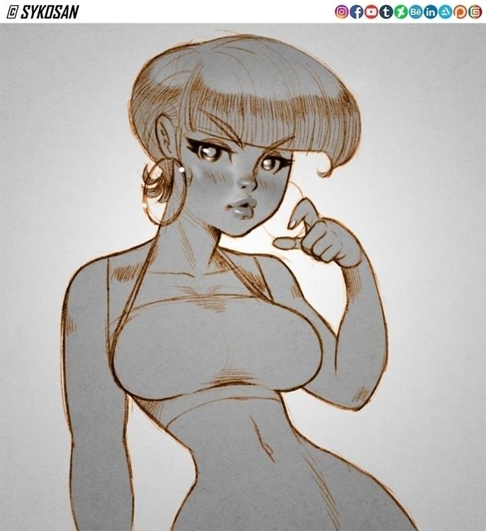 sketch. Inspired illustration N - sykosan   ello