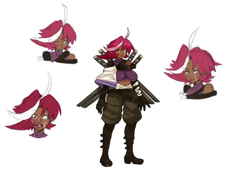 Izumi - illustration, characterdesign - chelostracks | ello