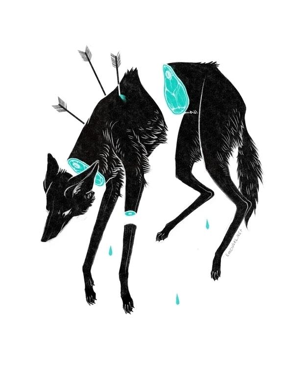 Severed - wolf, manedwolf, arrows - emengel   ello