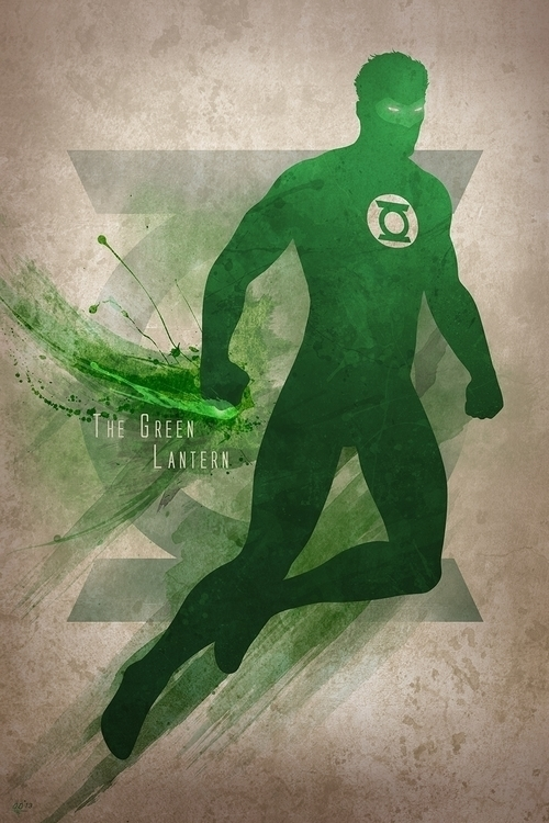 Inspired Green Lantern, print f - digitaltheory | ello