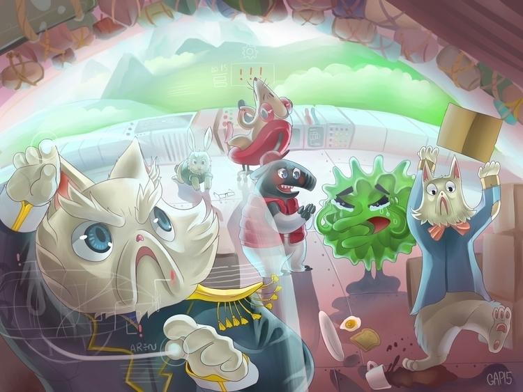 Captain Cat 2015 Digital Painti - grace-6235 | ello