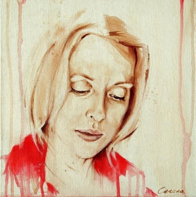 Poetess - portrait, portraiture - selenatabakovic | ello