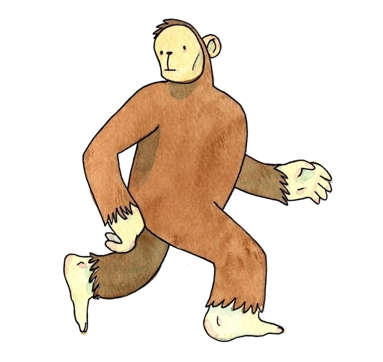 Ohio Grassman - bigfoot, yeti, illustration - markceberhardt | ello