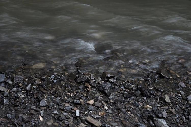 rocks, stones, river, water, monochrome - francinedesign   ello