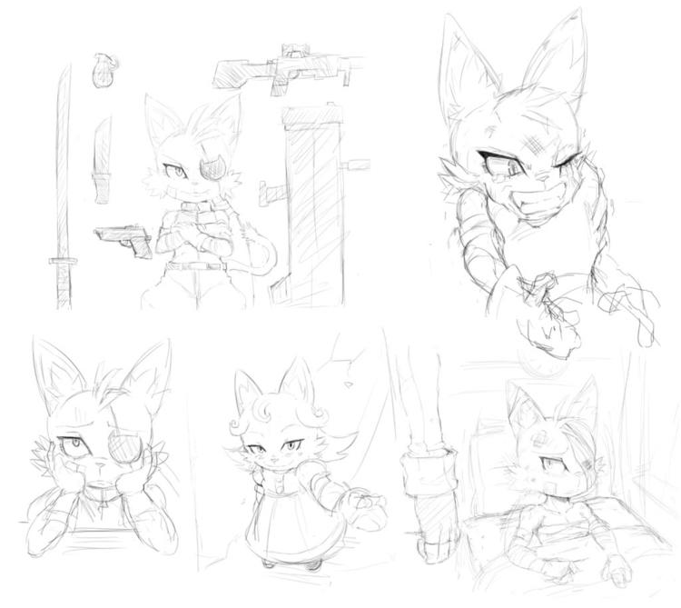 Katerine - sketches - illustration - chelostracks   ello