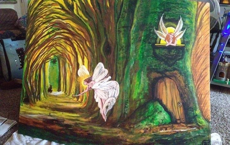 Fairy Fort - #fairyfort#acrylic - kpowell-1395 | ello