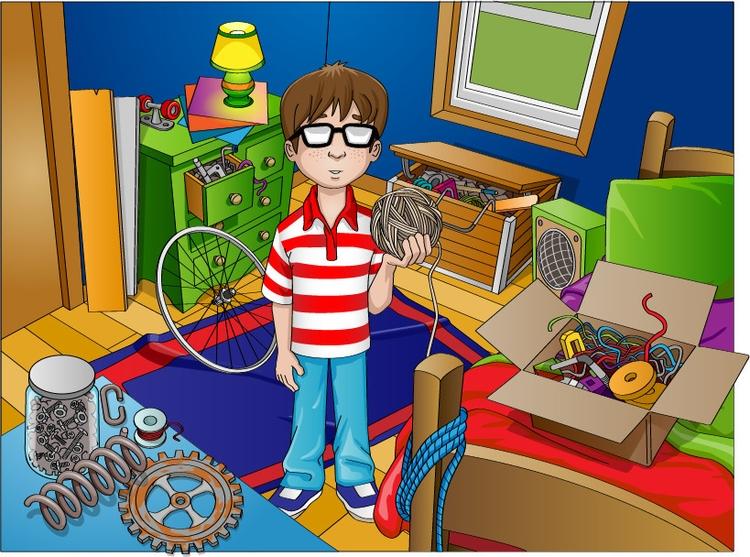 Mess - illustration, children'sbook - rossger | ello