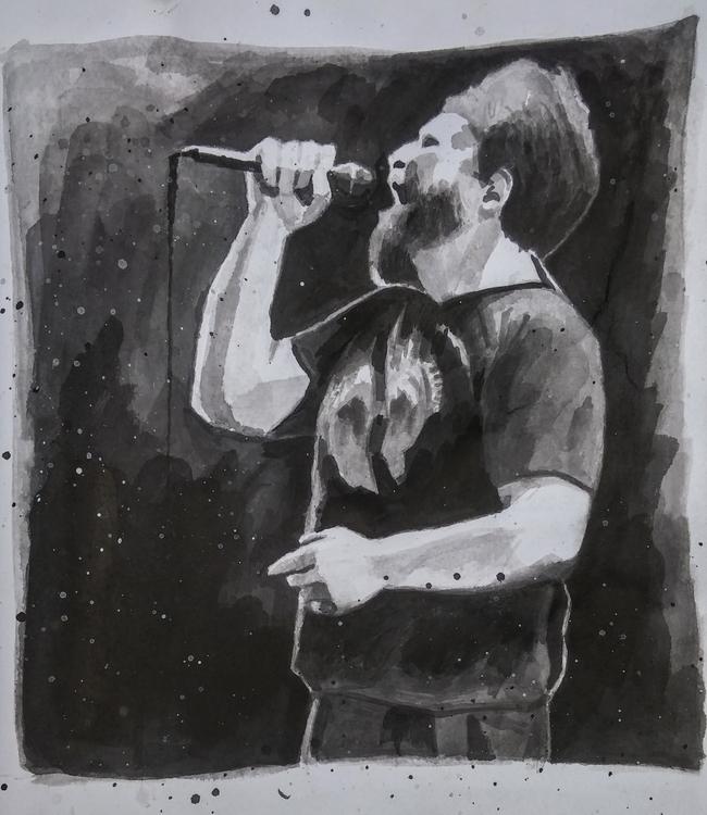 John Grant portrait pencil ink - christoff3000-1340 | ello