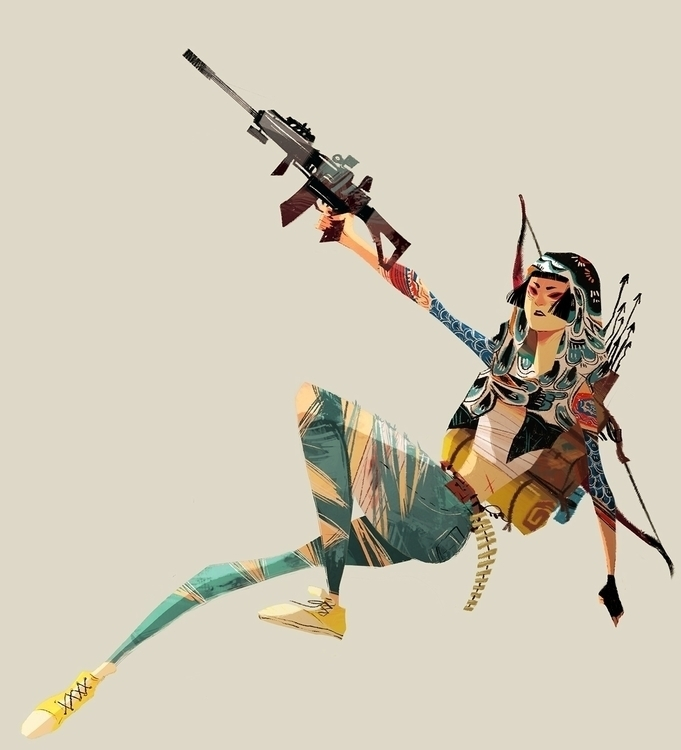 Post Apocalyptic Survivor - characterdesign - crystalkung | ello