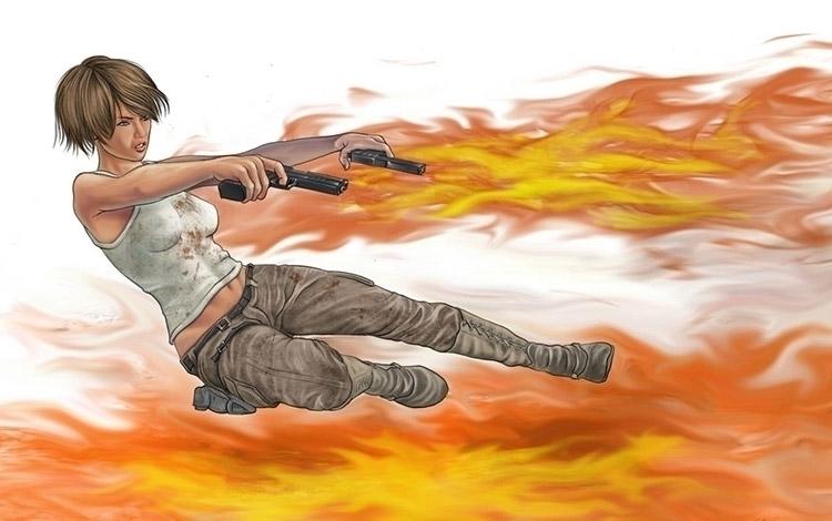 Girl guns - illustration, caracterdesign - rossger | ello