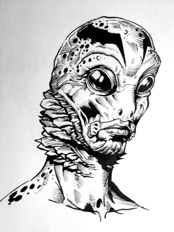 Abe Sapien - hellboy, illustration - dwfrydendall | ello
