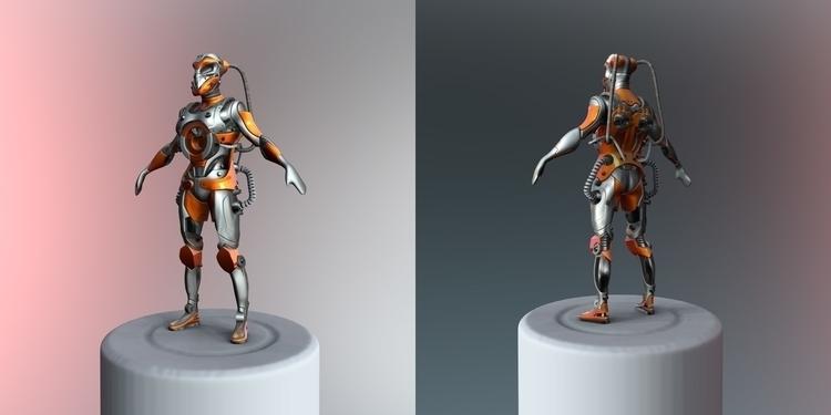 Mech-01 (WIP 001) Modeled rende - nenart | ello
