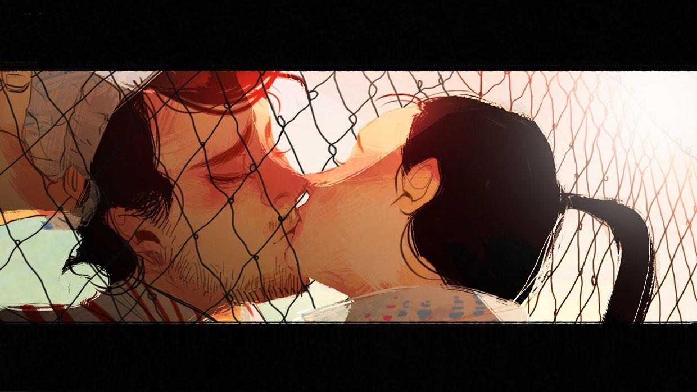 True Romance - illustration, kiss - crystalkung | ello