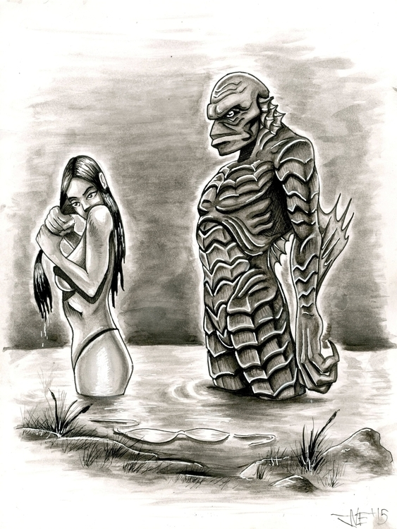 Creature Black Lagoon - illustration - jimmyedwards | ello