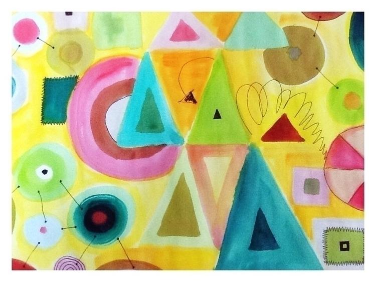 Shape Summer, Watercolour felt  - studiobonnici | ello