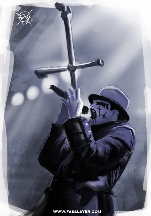 King Diamond - illustration, painting - fasslayer | ello