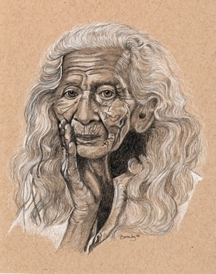 'Crone' Pencil toned paper - drawing - brandyhouse | ello