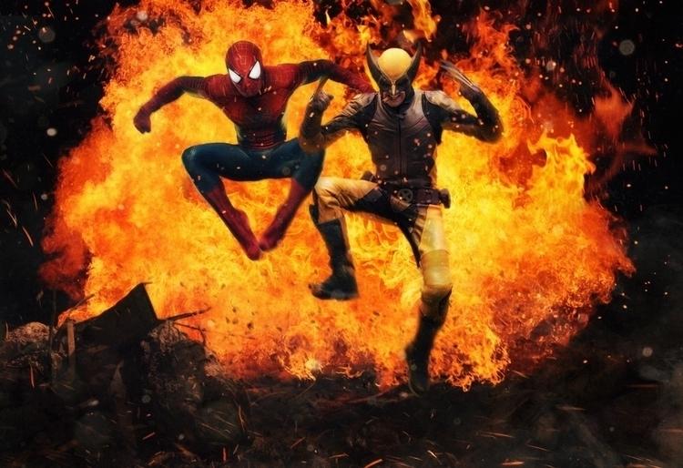 Wolverine Spider-Man - dmorson | ello