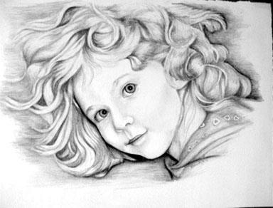 'Angel' Pencil portrait - drawing - brandyhouse | ello