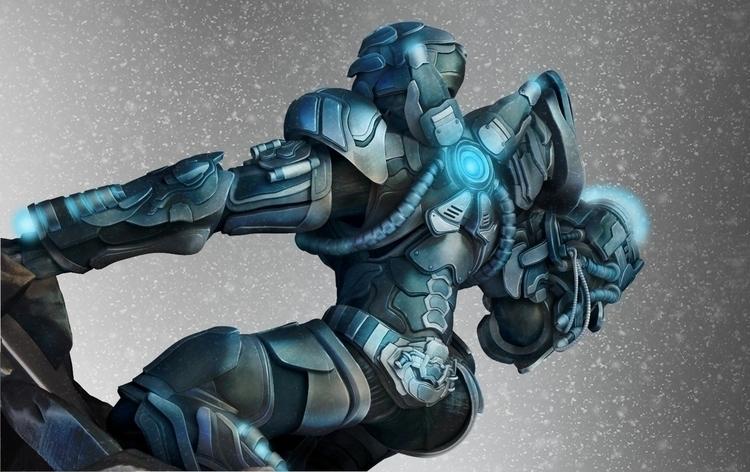 Freeze Futuristic armor suit - zbrush - jakeburstein | ello