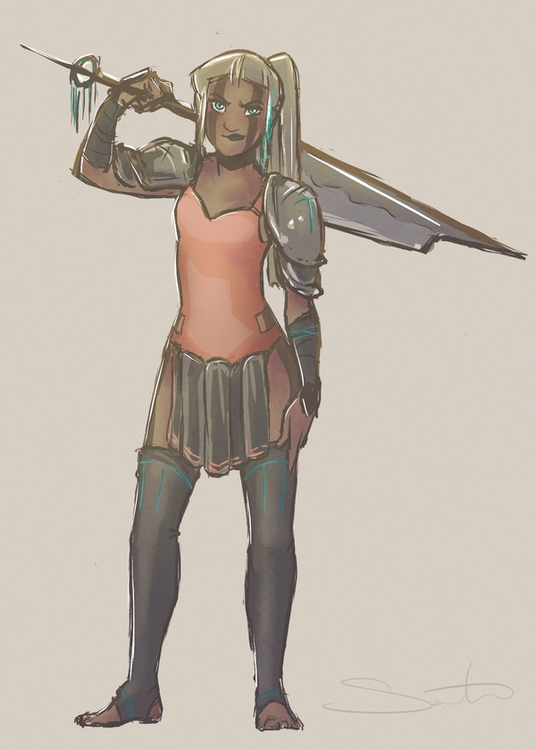 warriorgirls - samanthadoodles   ello