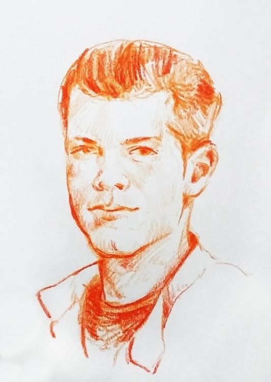 Cameron Monaghan - portrait, coloredpencil - prianikn | ello