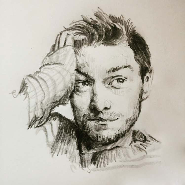 James McAvoy - portrait, pencil - prianikn   ello