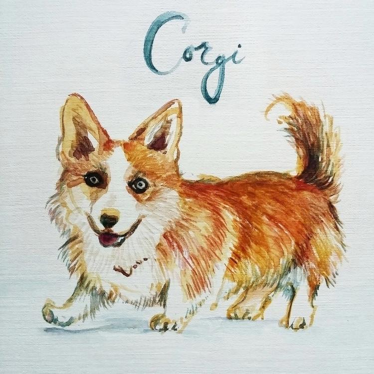 Corgi - corgi, aquarelle, dog - prianikn | ello