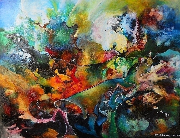 forest - painting, abstract, abstractpainting - wolfgangschweizer | ello