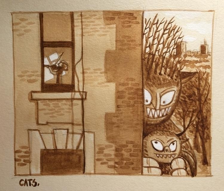 painting, watercolour, illustration - cat-8775 | ello