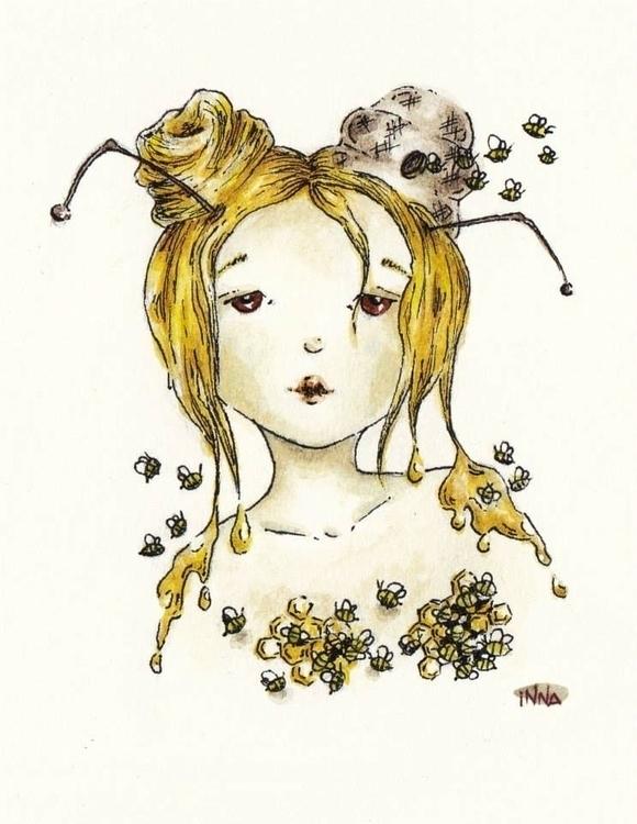 Queen Bee feels numb bee sting - inna-1269   ello