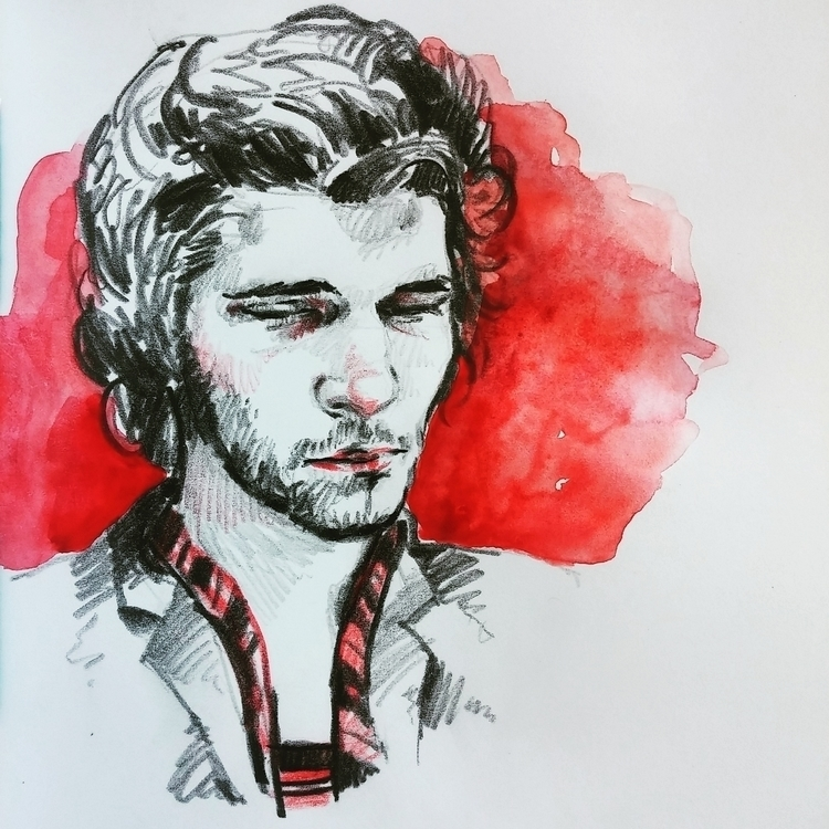 Ben Whishaw | Vine - pencil, aquarelle - prianikn | ello