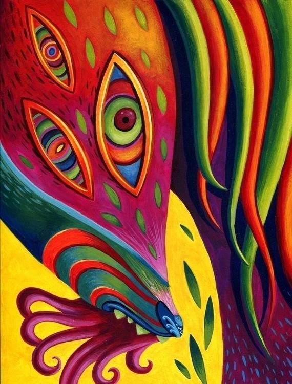 vibrant color - acrylic, psychedelic - pam-1887 | ello
