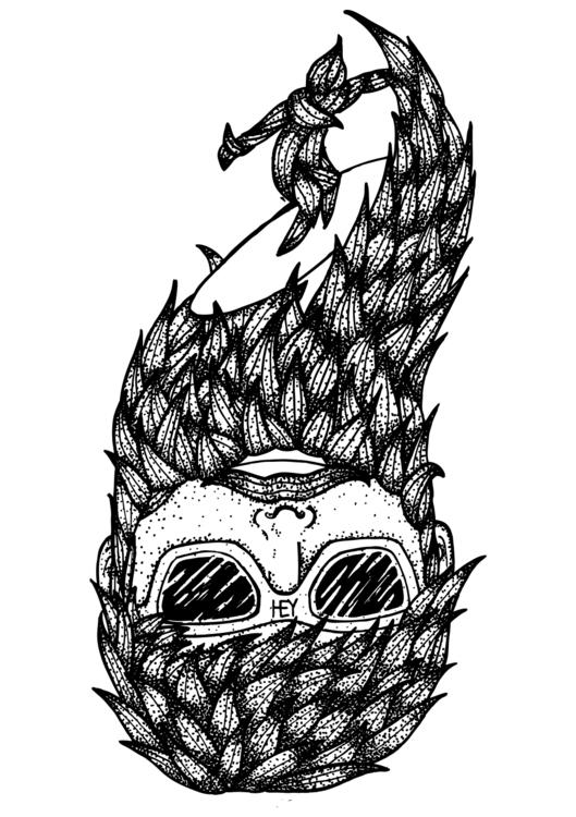 Surf beard - surf, hey, sunglasses - oscarcauda | ello