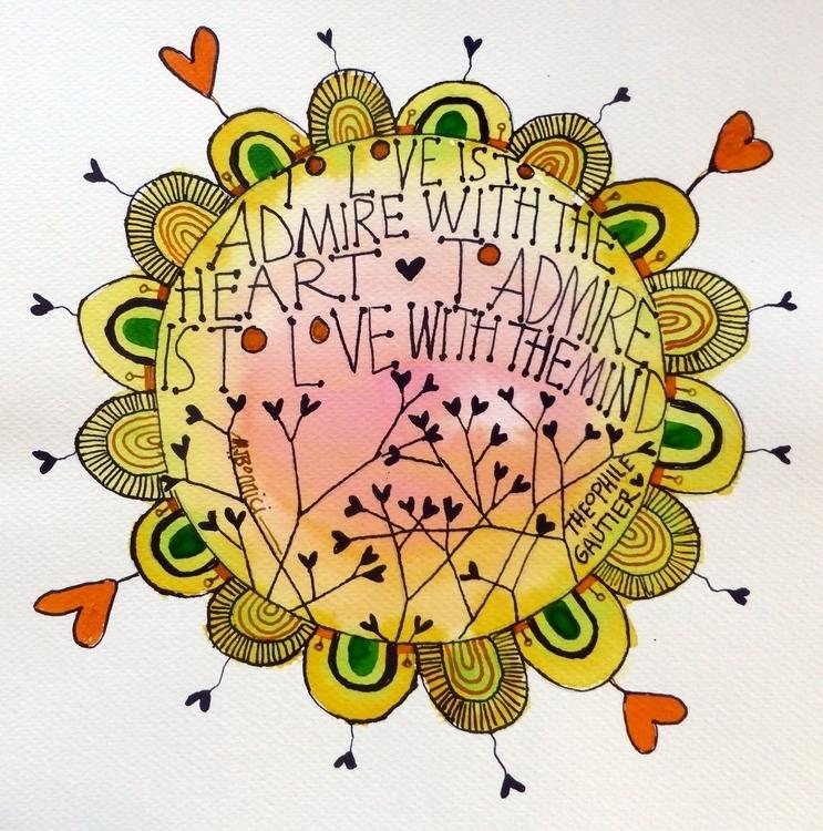 Illustrated quote - Admiration - studiobonnici | ello
