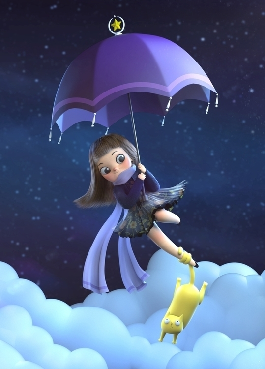 Purple Umbrella - 3d - queenie-4674 | ello