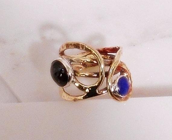 Garnet lapis lazuli ring - jewelry - wolfgangschweizer   ello