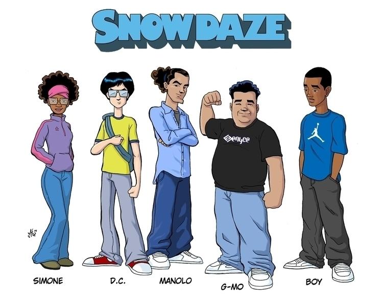 Simone, DC, Nolo, Boy - characterdesign - marcuskwame | ello