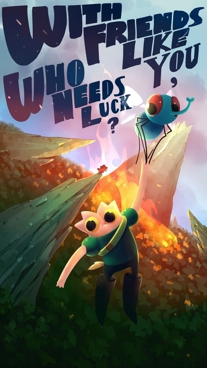 friends luck - animation, cartoon - luckypie | ello
