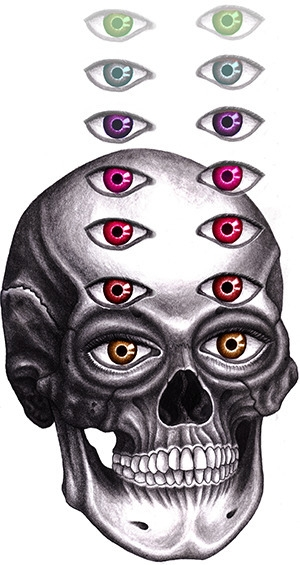 skull illustration - death, eyes - kate-1147 | ello