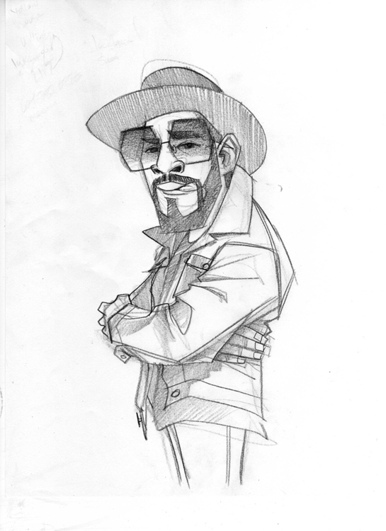 Kool Hercules sketch - illustration - dedos-1276 | ello