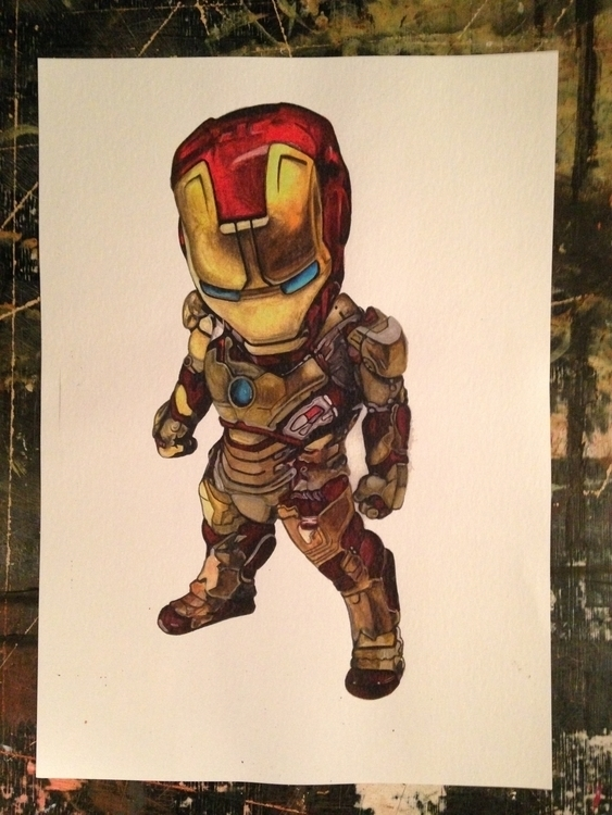 Baby iron man - illustration, Marvel - thatillustrator | ello